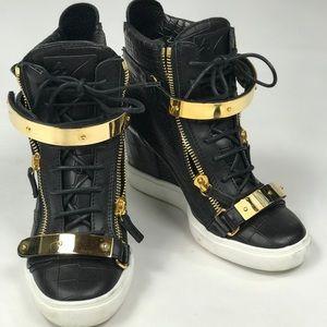 Giusseppe Zanotti Lorenz Croc Wedge Sneakers
